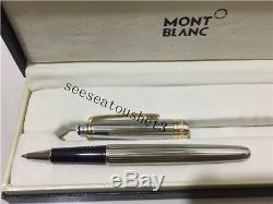 100% Authentic Montblanc Meisterstuck Sterling Silver Pinstripe Rollerball Pen