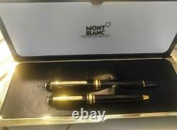 2 pcs Montblanc Meisterstuck 144 14k and Montblanc meisterstock rollerball pen
