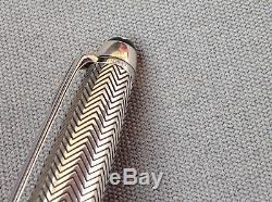 Authentic Montblanc Meisterstuck Doue Barley Rollerball Pen. Silver 925 Resin