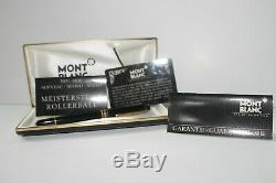 Beautiful Mont Blanc Meisterstuck Classique Rollerball Pen with Original Case
