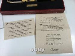 Cartier Louis Dandy lacquer gold foil limited edition rollerball pen NEW