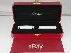 Cartier Trinity Pearl White Lacquer Rollerball Pen (NEW)