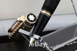 MONTBLANC Boheme Doue' Rollerball #36006 WithGOLD & Dimpled BLACK Resin NEW