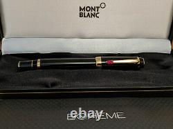 MONTBLANC Boheme Rouge Gold Plated Trim & Red Stone Rollerball Pen, NOS