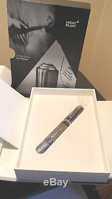 Montblanc Leo Tolstoy Limited Ed Rollerball Pen Black W Blue/silvertone Accents