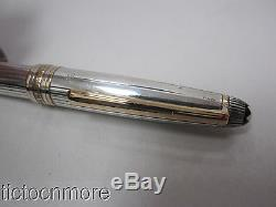 Montblanc Meisterstuck Solitaire 925 Sterling Silver & Gold Pen Pinstripe