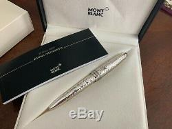 MONTBLANC MEISTERSTUCK SOLITAIRE MARTELE STERLING SILVER LeGRAND ROLLERBALL PEN