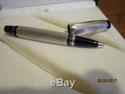 Montblanc Meisterstuck Solitaire Pure Silver W Gold Trim Pen Made In Ger Lot 1