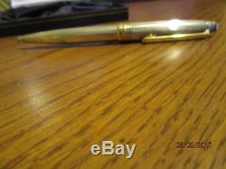 Montblanc Meisterstuck Solitaire Pure Silver W Gold Trim Pen Made In Ger Lot 2