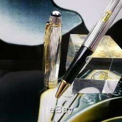 MONTBLANC MEISTERSTUCK solitaire sterling silver 163 gold ROLLERBALL PEN