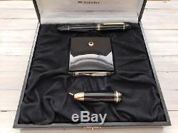 MONTBLANC Meisterstuck 149 Foutain Pen with 18K Nib & Pen Stand Set, RARE