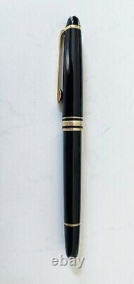 MONTBLANC Meisterstuck Classique Rollerball Pen, Black with Gold Trim