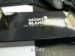 MONTBLANC Meisterstuck Gold Trim Classique Rollerball Pen, EXCELLENT With Boxes
