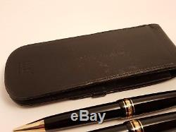 MONTBLANC Meisterstuck LeGrand 167 Pencil & 161 Ballpoint Pen with Leather Case