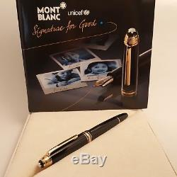 MONTBLANC Meisterstuck LeGrand Gold Fountain Pen M146 Signature for Good UNICEF