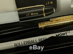 MONTBLANC Meisterstuck Solitaire Doue Gold Plated 163 Rollerball Pen, NEAR MINT