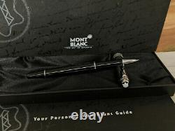 MONTBLANC Meisterstuck Solitaire Doue Stainless Steel 163 Rollerball Pen