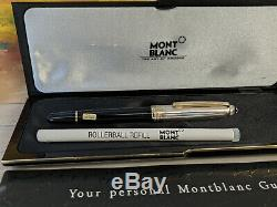 MONTBLANC Meisterstuck Solitaire Doue Sterling Silver 163 Rollerball Pen, NOS