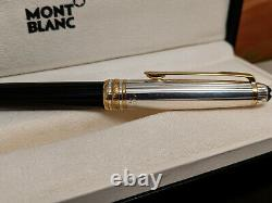 MONTBLANC Meisterstuck Solitaire Doue Sterling Silver 925 Rollerball Pen