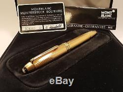 MONTBLANC Meisterstuck Solitaire Gold Plated No 146 Corn Barley Fountain Pen