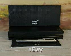 MONTBLANC Meisterstuck Solitaire Stainless Steel 163 Rollerball Pen, EXCELLENT