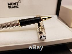 MONTBLANC Meisterstück Solitaire Sterling Silver 925 163 Rollerball Pen