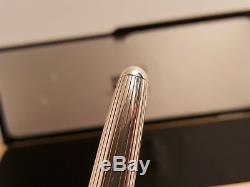 MONTBLANC Meisterstuck Solitaire Sterling Silver 925 Pinstripe163 Rollerball Pen