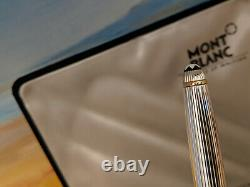 MONTBLANC Meisterstuck Solitaire Sterling Silver Classique Rollerball Pen, NOS