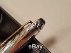 MONTBLANC Meisterstuck Sterling Silver 925 Pinstripe Large LeGrand Fountain Pen