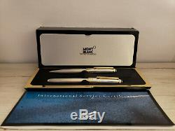 MONTBLANC Meisterstuck Sterling Silver Barley 165 Pencil & 163 Rollerball Set
