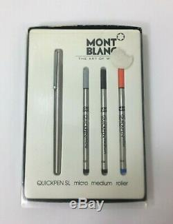 MONTBLANC Stainless Steel Rollerball Quick Pen SL Micro Roller & Refill #4800