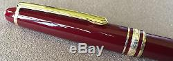 Mint New Old Stock Montblanc Meisterstuck 163R Rollerball, Boxed, 1995, Bordeaux