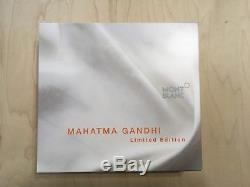 Mont Blanc Mahatma Ghandi Nib Special Edition Great Characters Roller Ball