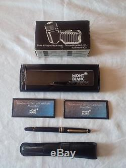 Mont Blanc Meistertruck Fountain and Rollerball pen plus Ink Barely used, mint