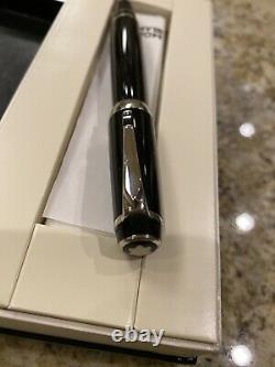 Mont Blanc Rollerball Black With Black SAPPHIRE On Pendant