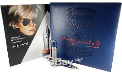 Montblanc 112717 Great Characters Special Edition Andy Warhol Rollerball Pen NEW