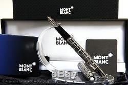 Montblanc 144 Solitaire Facet Fountain RARE (M) nib Platinum Plated! NEW WithTAGS