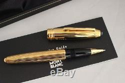 Montblanc 162 LeGrand Solitaire Sterling Silver Vermeil PS Rollerball Pen NEW