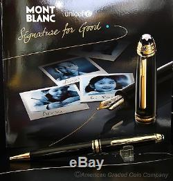 Montblanc 2009 Unicef 164 Ballpoint Pen With 165 Pencil Sold as SET