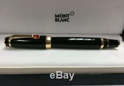 Montblanc 5096 Boheme Rouge Red Ruby Black/Gold Rollerball Cap Pen withBox New