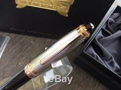 Montblanc 75th Legrand Limited Edition Silver Rose Gold Diamond Rollerball Pen