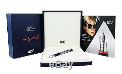 Montblanc Andy Warhol Rollerball 112717 Special Edition Brand New Box Germany