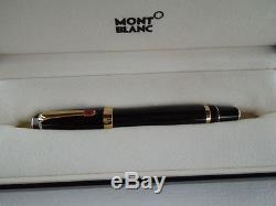 Montblanc Boheme Black & Gold Trim Rollerball Pen Rouge New In Box 25300