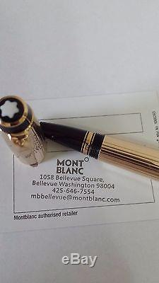 Montblanc Boheme Oro Plaque GOLD Rollerball full gold pen red stone