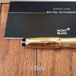 Montblanc Boheme Oro Rouge (full gold with red stone) RollerBall Pen