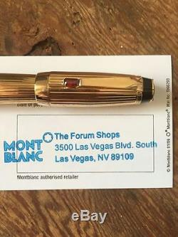 Montblanc Boheme Rollerball Plaque Oro Rouge gold collectible pen