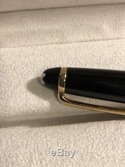 Montblanc Classique Meisterstuck Rollerball Black with Gold Trim 163 FREE SHIP