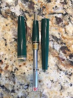 Montblanc GENERATION Gorgeous Forest GREEN & GOLD rollerball pen