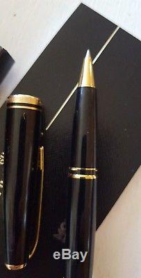 Montblanc Generation Black And Gold Roller Ball Pen with Original Box, Refills