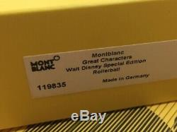 Montblanc Great Char. Walt Disney Special Edition Rollerball Pen #119835 New